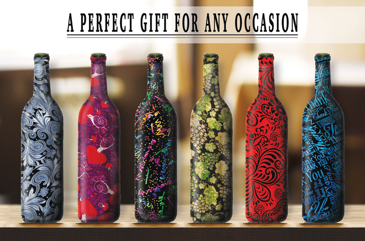 Decorative Wine Bottles Cool 110912 Kimco Products  Decorative Wine Bottle Covers  Giveaway Decorating Inspiration