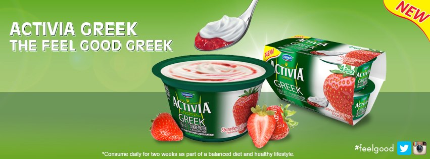 05/31/13 NEW Activia Greek Yogurt – Prize Package Giveaway #feelgood