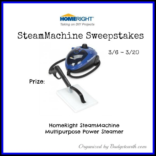 03/20/14 HomeRight SteamMachine Sweepstakes