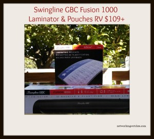 Enter the Swingline GBC Fusion 1000L Laminator & EZUse Pouches Giveaway. Ends 4/18