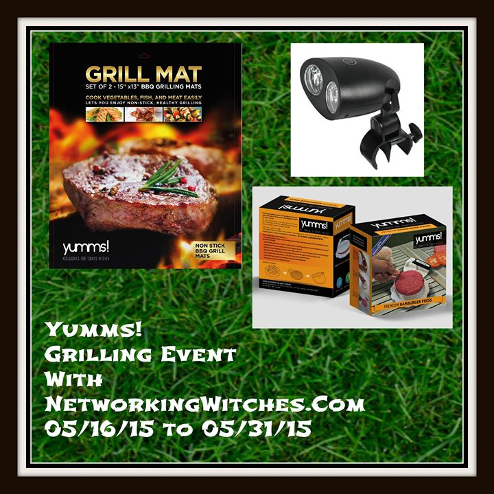 Enter the Yumms! Grilling Event Giveaway. Ends 5/31