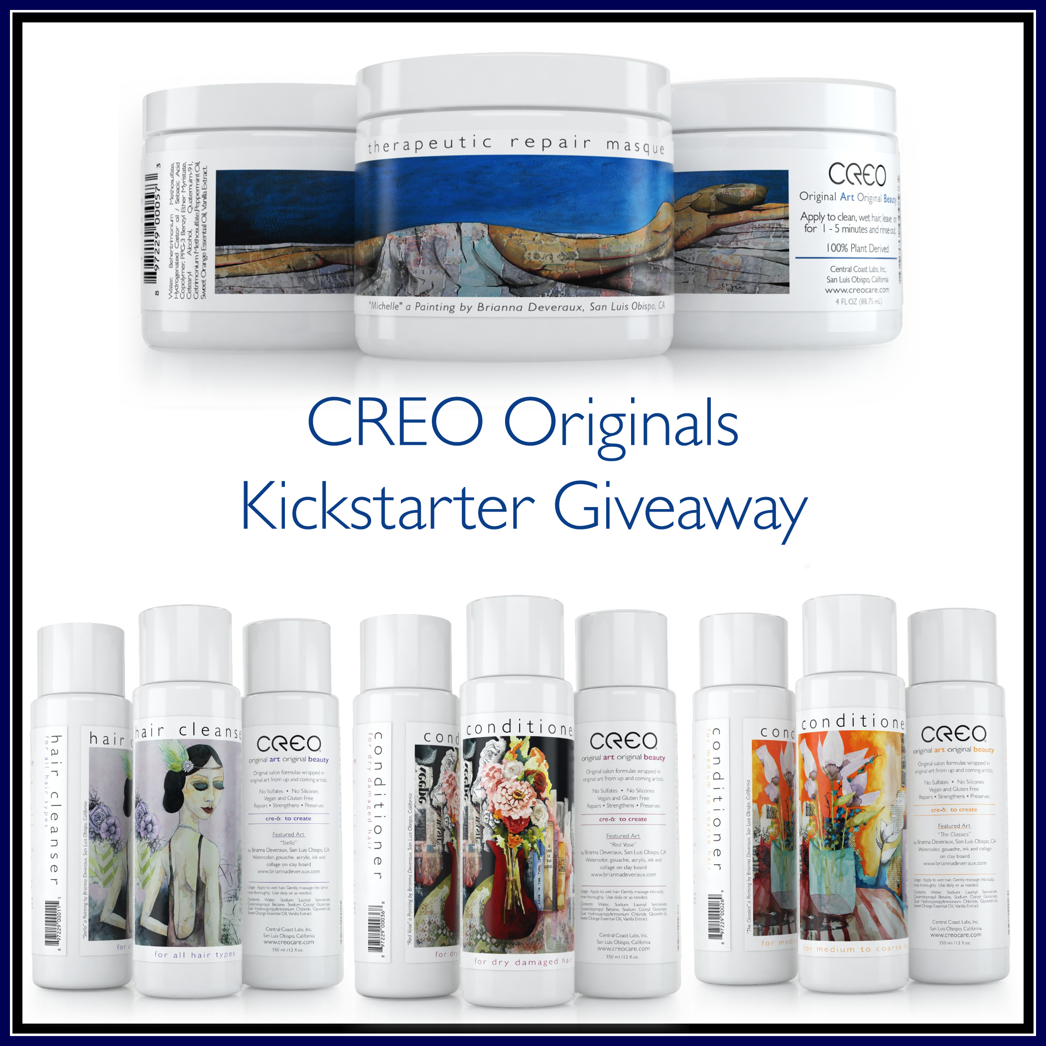 Enter the CREO Originals Kickstarter Event & Giveaway. Ends 8/21