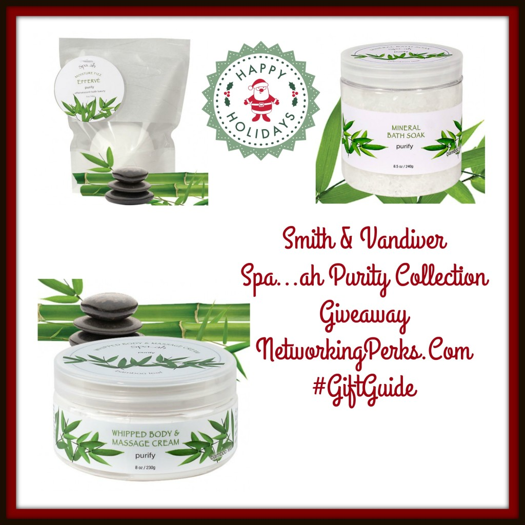 Enter the Smith & Vandiver Spa...ah Purity Collection Giveaway. Ends 1/1/16