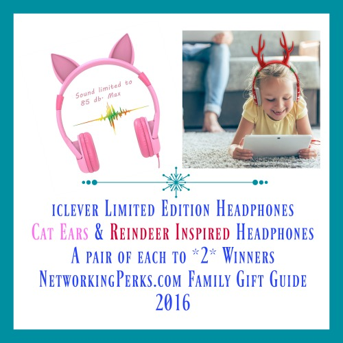 Enter the  iClever Limited Edition Holiday Headphones Gift Guide Giveaway. Ends 12/18